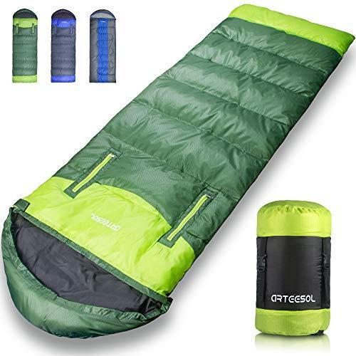 arteesol Schlafsack Camping, Leichtgewicht Warm wasserdichte Leicht Hohle Baumwollpolsterung Campingausrüstung…