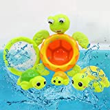 Aliturtle 4pcs Baby Bath Toys Turtle Wind Up Toys Bathing Water Toys Swimming Tub Bathtub Pool Cute Swimming for Boys Girls Kids Toddler Child Bath Time Fun