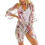 CHERLATE Summer Style Women Half Sleeve Chiffon Loose Flower Print Cape The Kints Blouse