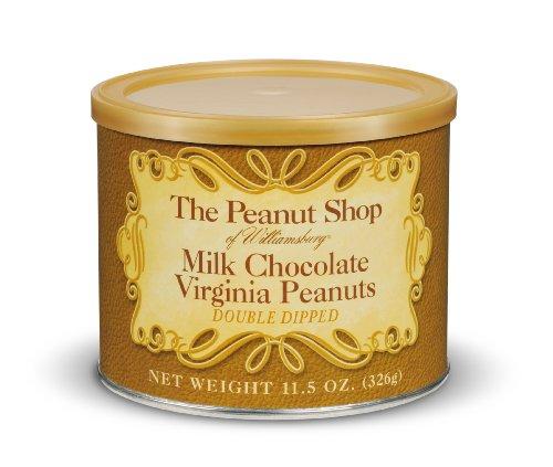 The Peanut Shop of Williamsburg Milk Chocolate Virginia Peanuts - 11.5 oz (Chocolate Virginia)