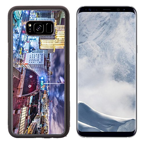 Luxlady Samsung Galaxy S8 Plus S8+ Aluminum Backplate Bumper Snap Case IMAGE ID: 23400024 Providence Rhode Island downtown cityscape viewed from behind city - Island Rhode Place Providence