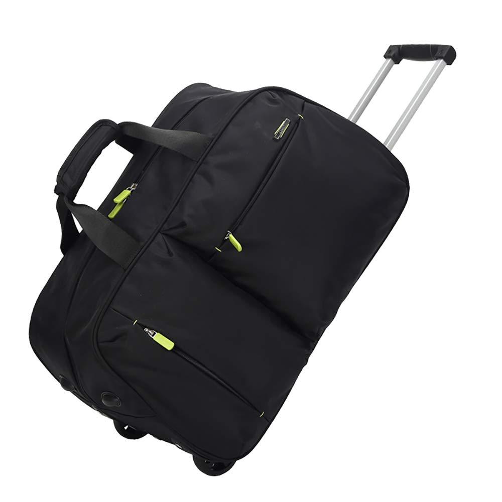 FLHT、女性用男性用スペース付きトラベルバッグ、スペースハンドバッグ、トラベルトートバッグ、週末防水トラベルバッグオーガナイザー、軽量ト B07TNGXTBQ ブラック Small