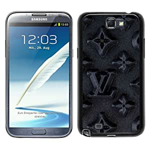Galaxy Note 2 Case,Louis Vuitton 66 Black Samsung Galaxy Note 2 N7100 Screen Cover Case Luxurious and Durable Design