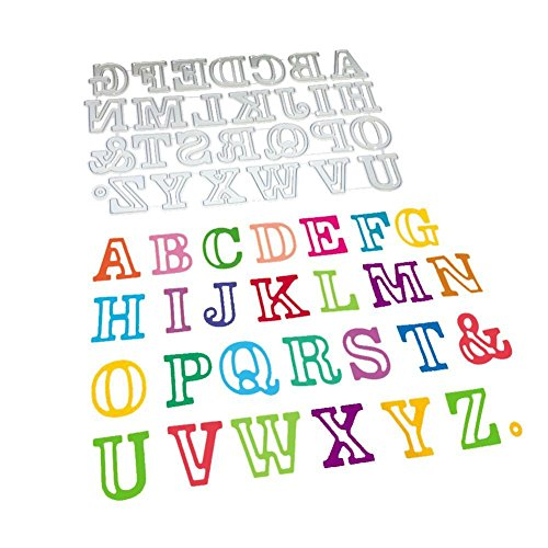 (キッズ ホウス) KIDS HOUSE 英語アルファベット エンボスナイフ ダイカットScrapbooking エンボステンプレート ペーパーエンボス 切削ステンシルの商品画像