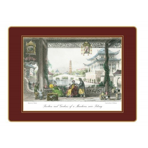 Lady Clare English Continental Placemats - Chinese Engravings - Set f 4 - 15.5 x 11.5 inch by Lady Clare Placemats