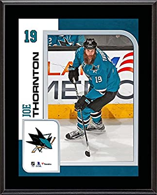 "Joe Thornton San Jose Sharks 10.5"" x 13"" Sublimated Player Plaque - Fanatics Authentic Certified - NHL Player Plaques and Collages"