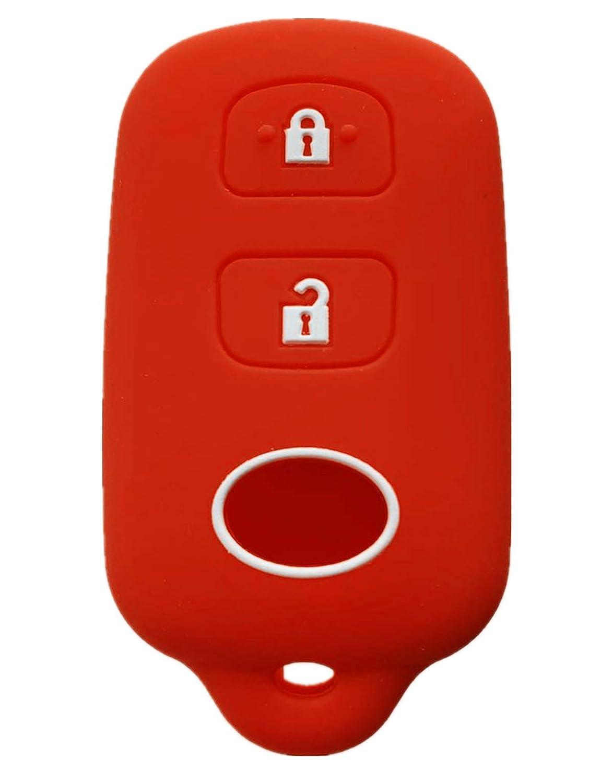 gules Rpkey Silicone Keyless Entry Remote Control Key Fob Cover Case protector For Scion xA xB Toyota Celica Echo FJ Cruiser Highlander Prius RAV4 Tacoma Tundra Yaris HYQ12BBX HYQ12BAN 89742-42120