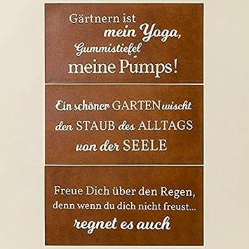 garten sprüche Metall Schild Rostoptik Gartensprüche 40x20cm Wandschmuck  garten sprüche
