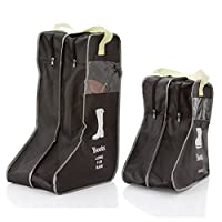 Home-organizer Tech Portable Boots and Shoe Bag Travel Organizer Waterproof Shoe Bags Storage for Travel, Workout, Dancing, Gym,2 pack (Large and Small)