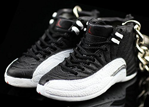 949f9f19fa4d Air Jordan XII 12 Retro Playoff Black White OG Sneakers Shoes 3D Keychain  Figure - Buy Online in KSA. Miscellaneous products in Saudi Arabia.