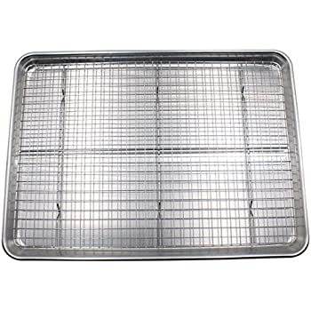 Amazon Com Checkered Chef Half Sheet Pan And Rack Set