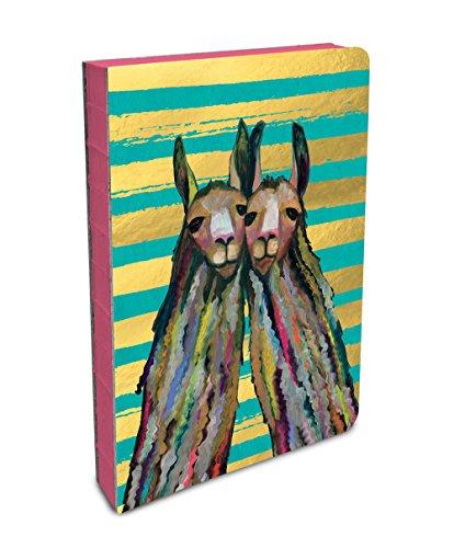 Studio Oh! Hardcover Medium Coptic-Bound Journal Available in 10 Designs, Eli Halpin Llama Twins