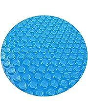 غطاء حمام دائري شمسي من كاست ويف، غطاء حمام سباحة سهل الاستخدام فوق حمام السباحة لرفع الحرارة، مجموعة سريعة التركيب مناسبة لحمام السباحة مقاس 4 5 6 8 10 قدم بقطر دائري 4 قدم