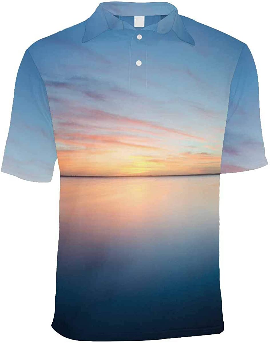 INTERESTPRINT Mens Polos Shirt Summer Fashion Short Sleeve S-2XL