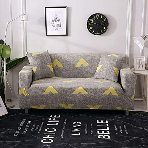 All-Inclusive Flexible Sofa Cover for Living Room Elastic Stretch Modern Geometric Printing Couch Cover Slipcovers cubre Sofa   color 11, 4seater 235-300cm