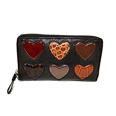 Brighton Collectibles BT Tech Hearts Leather zip phone wristlet