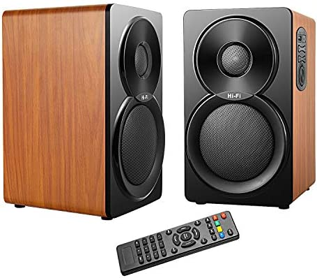 GJY-2.0 Multimedia Speaker System for Home and Party,Support USB 3.5mm AUX in,Bluetooth Bookshelf Speakers,56W Powered Speaker 5inch 1inch