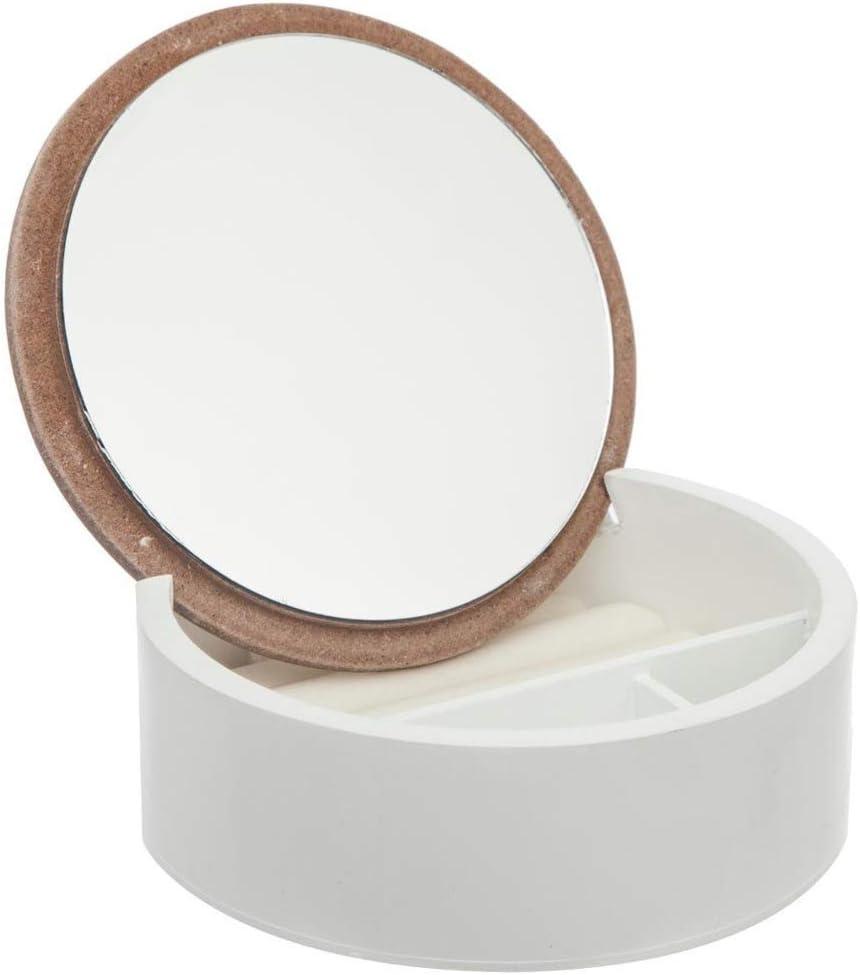 DYA SHOPPING Bo/îte /à bijoux ronde avec miroir Folkdream