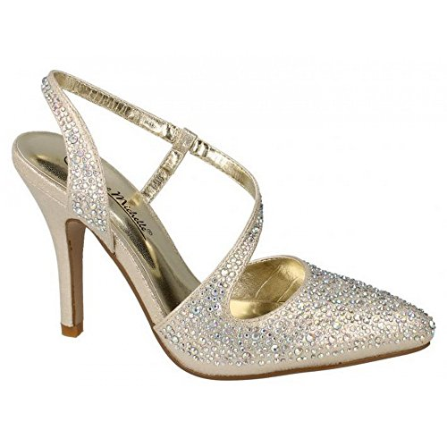 Slingback Silver F9812 Ladies Style Shoes Anne Michelle D EpRRq8fn