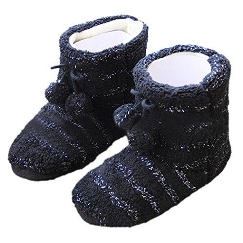 Summer Mae Mujer Zapatillas Botas Con Lentejuelas A Todo Color Negro