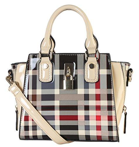 diophy-plaid-structured-mini-crossbody-with-front-lock-gz-3703-upc