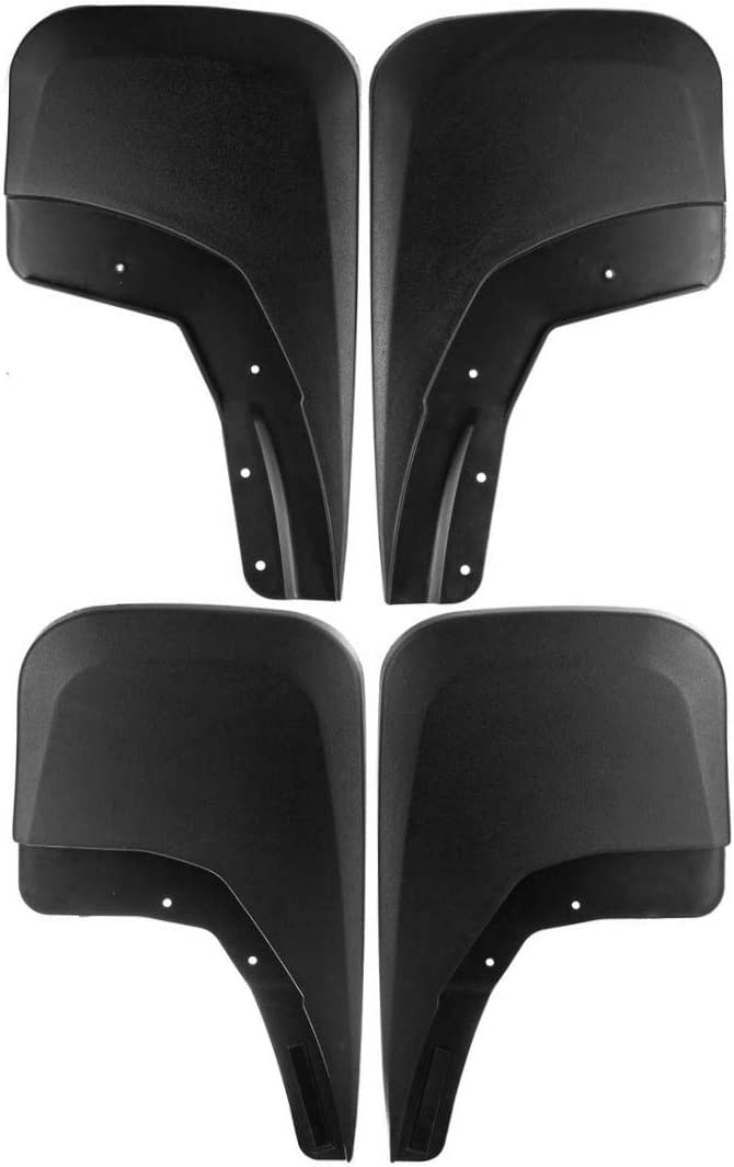 Set of 4 Front and Rear Mud Flaps Splash Guards for 2014-2017 Chevrolet Silverado 1500 2500 3500 Excluding Dual Rear Wheels