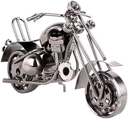 オートバイモデルホームインテリアリビングルームの装飾創造的な工芸品ホームレトロアートパーティーお土産 (Color : Bronze, Size : 18*7*10cm)
