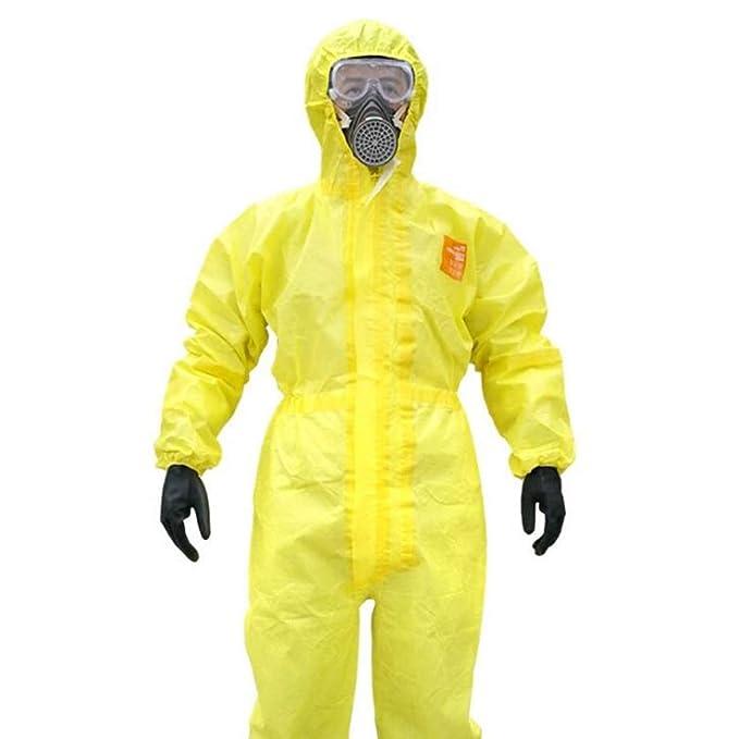 HZTWS Traje de protección química siamés, ropa protectora ...