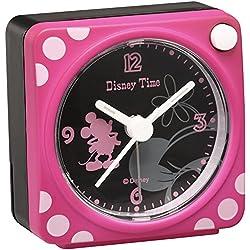 Disney Mickey Mouse Minnie Mouse quartz alarm clock (pink paint) FD469P