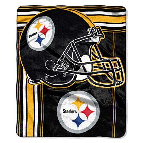The Northwest Company NFL Pittsburgh SteelersTouchback Plush Raschel Throw, 50