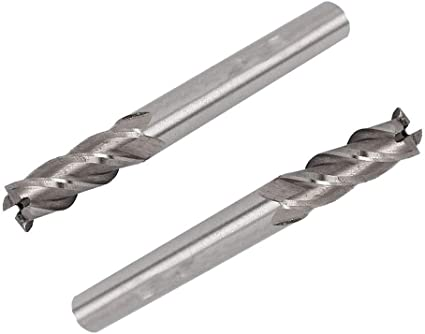 Wokesi /Ø5//16/×5//16SHANK/×3-1//2OAL,Extra Long,4Flute,High Speed Steel,Full Grinded,Sqaure End Mill Cutter,CNC Router Bits Milling Slotting Cutting Tools /Ø5//16/×5//16SHK/×3-1//2OAL 4F