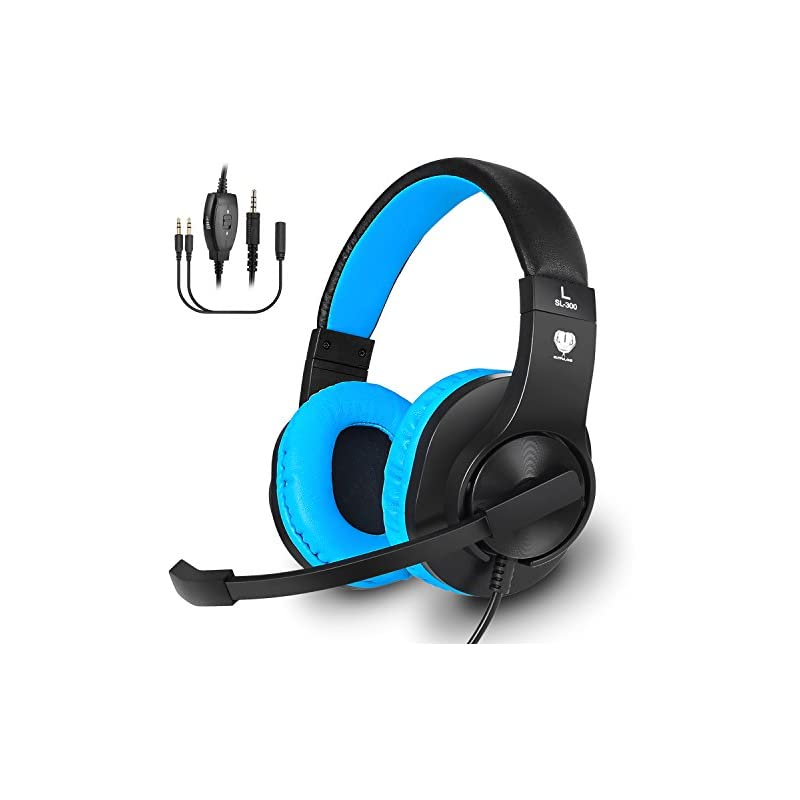 Gaming Headset for PS4, Xbox One, PC, Ba