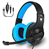 Gaming Headset for PS4, Xbox One, PC, Balleenshiny Surround Sound Over-Ear Headphones with Mic, Noise Isolation,Soft Memory Earmuffs and Volume Control for Nintendo Switch, Laptop, Mac, Smart phones