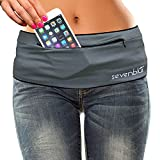 SevenBlu HIP - Fashion Money Belt / Extra Pocket / Running Belt - World's Best Stylish Travel Wallet or Mini Purse - with ZIPper - Fits iPhone 6 Plus - Your Smartphone Pocket (Gray L)