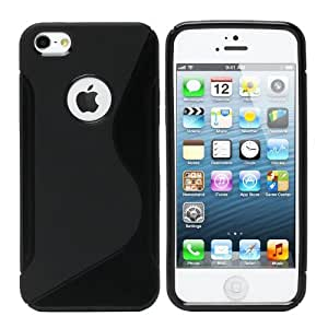 Shawnex S-Line Back Flexible Cover TPU Case for Apple iPhone 5 - Black