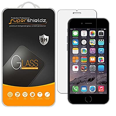[2-Pack] iPhone 6 / 6S Tempered Glass Screen Protector, Supershieldz [3D Touch Compatible], Anti-Fingerprint, Bubble Free, Lifetime Replacement Warranty