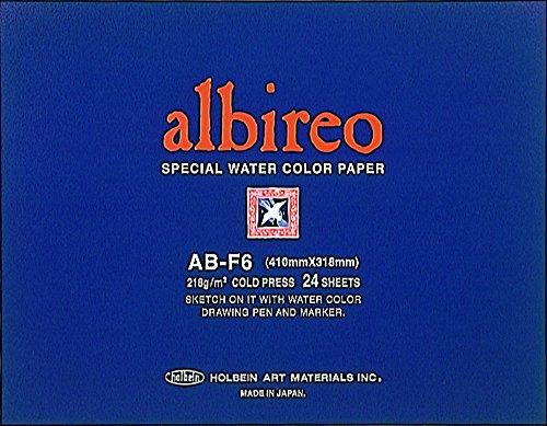 홀베인 알비레오 수채화 용지 블록 중 종이 218g (並厚口) 中 目 24 장 제본 270-238 B-F6