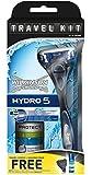 Wilkinson Sword Hydro 5 - Rasoio con 1 lametta + custodia da viaggio gratis e mini schiuma da barba in omaggio