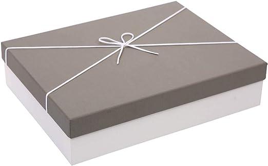 Caja de Regalo Rectangular Simple Caja de Embalaje Grande del Aniversario de Vacaciones de cumpleaños (Color : Gray, Tamaño : 33×25×11.5cm): Amazon.es: Hogar