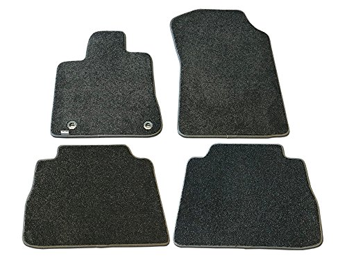 (CarsCover Custom Fit 2014-2019 Toyota Tundra CrewMax Cab Truck Front and Rear Carpet Car Floor Mats Heavy Cushion Ultramax Asphalt Black )