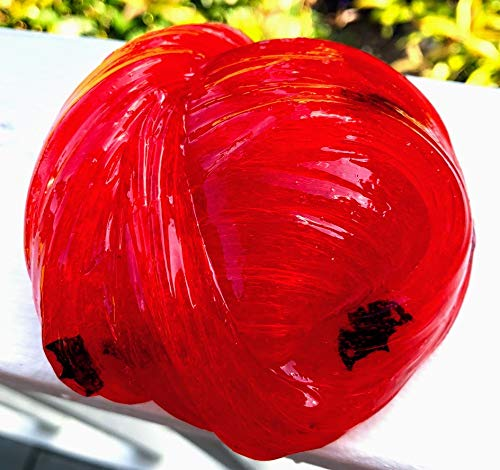 4oz Vampire Blood Slime w/Bats - Clear Base RED Handmade Slime - Drip, Squish & Stretch! Homemade in USA