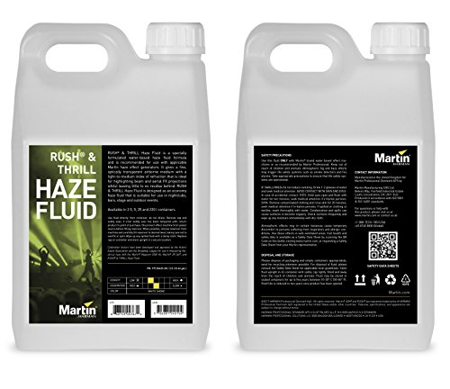 Martin Rush Fluid for Haze Effects Generators, 4 x 2.5L (case of - Haze Fluid