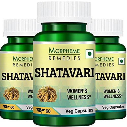 Morpheme Shatavari (Asparagus Racemous) 500mg Extract 60 Veg Caps - 3 ()