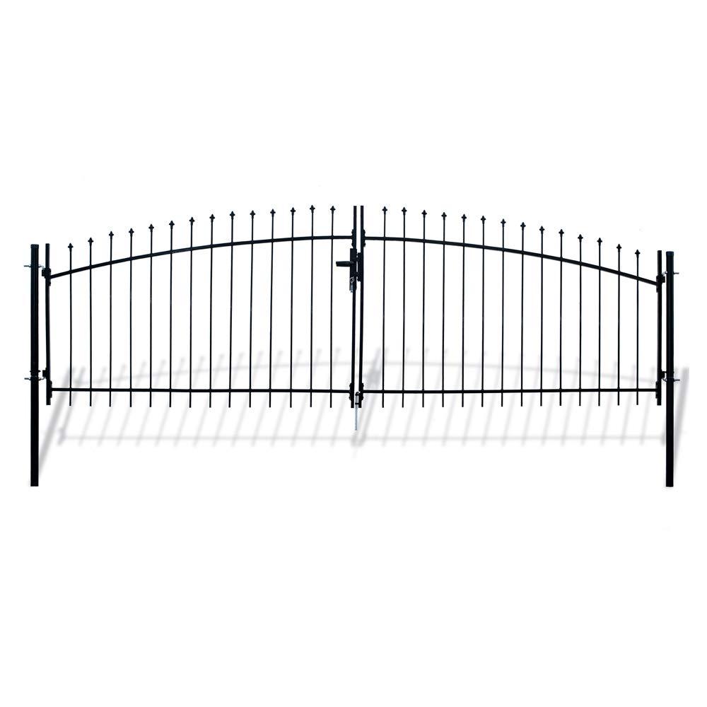 ALEKO DWGD13X5 DIY Arched Steel Dual Swing Driveway Gate Kit with Lock Athens Style 13 x 5 Feet by ALEKO