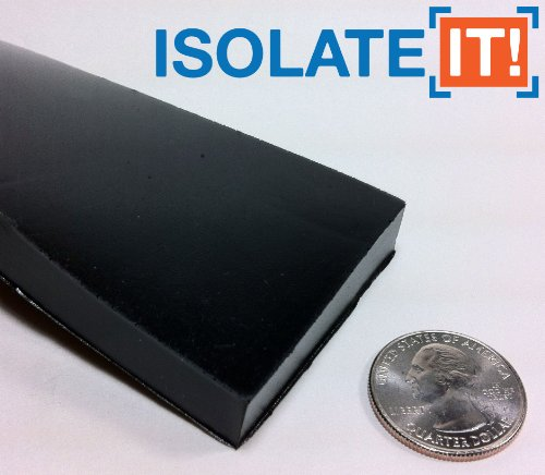 """Isolate It!: Sorbothane Strip 36"""" (91.4cm) x 2"""" (5.1cm) x 1/2"""" (1.27cm) 70 Duro - 1 Strip by Isolate It! (Image #1)"""