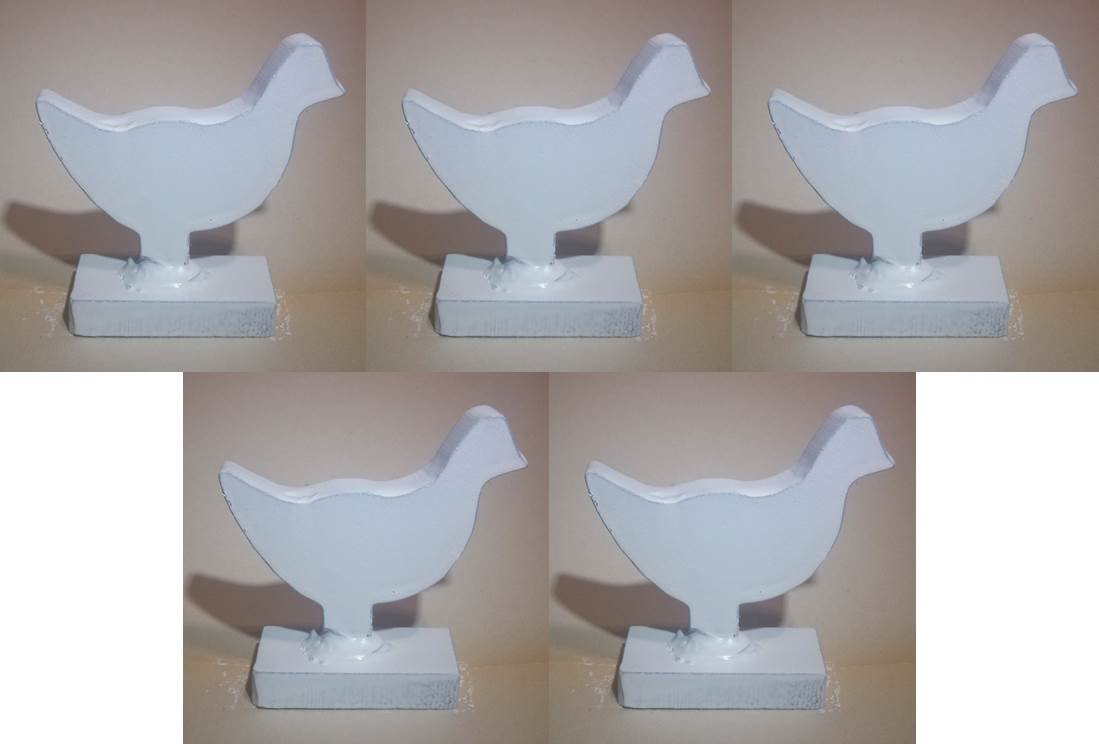NRA 1/5 Scale Chickens 3/8'' Thick AR500 Steel 5 Pieces by Quality Targets