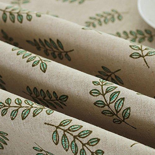 Bringsine Fashion Classic Rectangular Cotton Linen Lace Leaves Tablecloth,  Washable ...