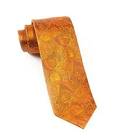 The Tie Bar 100% Woven Silk Burnt Orange (Rust) Paisley Tie
