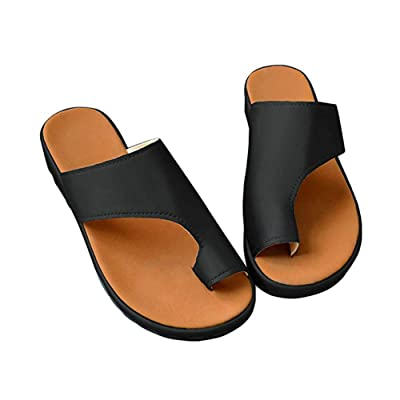 2019 New Women Comfy Platform Sandal Shoes Summer Beach Travel Shoes Fashion Sandals Ladies Shoes 0.8-1.2in Heel Height Black | Flats