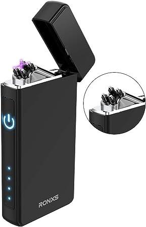 Portatile Impermeabile Ricaricabile USB Doppio Arc Sicuro Antivento